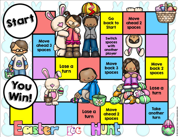 Easter Reading Prehension Board Game – Games 4 Gains