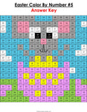 Easter Math Color-by-Number - 3rd Grade - Games 4 Gains  - 4