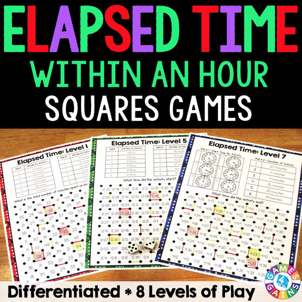 Elapsed Time Within An Hour Squares Game Games 4 Gains