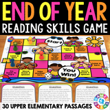 End of the Year Reading Comprehension Board Game - Games 4 Gains  - 1