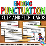 Ending Punctuation 'Clip and Flip' Cards - Games 4 Gains  - 1
