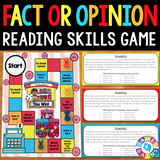 Fact and Opinion Board Game - Games 4 Gains  - 1