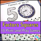 Factors 'Squares' Game - Games 4 Gains  - 1