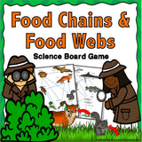 Food Chains and Food Webs Board Game - Games 4 Gains  - 1