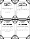 Fraction Word Problems Picture Puzzle - Games 4 Gains  - 2