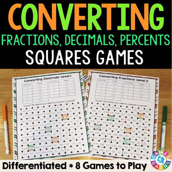 This is an image of Superb Printable Decimal Games