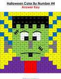 Halloween Math Color-by-Number - 2nd Grade - Games 4 Gains  - 4