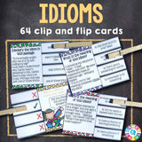 Idioms 'Clip and Flip' Cards - Games 4 Gains  - 1