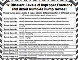 Mixed Numbers and Improper Fractions Bump Games - Games 4 Gains  - 2