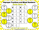 Mixed Numbers and Improper Fractions Bump Games - Games 4 Gains  - 4