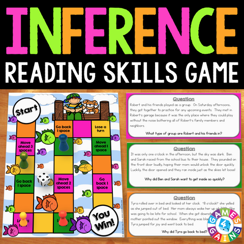 Inference Board Game - Games 4 Gains  - 1