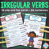 Irregular Verbs 'Clip and Flip' Cards - Games 4 Gains  - 1