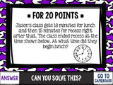 Jeopardy Math Review Game - 3rd Grade - Games 4 Gains  - 3