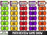 Jeopardy Math Review Game - 5th Grade - Games 4 Gains  - 2