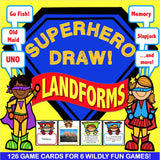 Landforms 'Superhero Draw' Game - Games 4 Gains  - 1