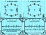 Line Plots with Fractions Scavenger Hunt Cards - Games 4 Gains  - 2