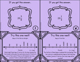 Line Plots with Fractions Scavenger Hunt Cards - Games 4 Gains  - 3