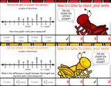 Line Plots with Fractions 'Clip and Flip' Cards - Games 4 Gains  - 2