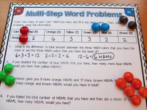 M Amp M S Math Project Games 4 Gains