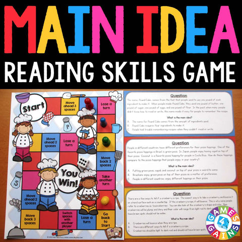 Main Idea Board Game - Games 4 Gains  - 1