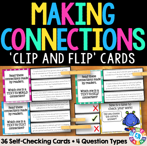 Making Connections 'Clip and Flip' Cards - Games 4 Gains  - 1