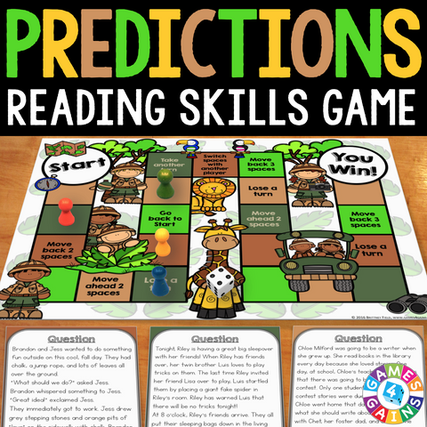 Predictions Board Game - Games 4 Gains  - 1