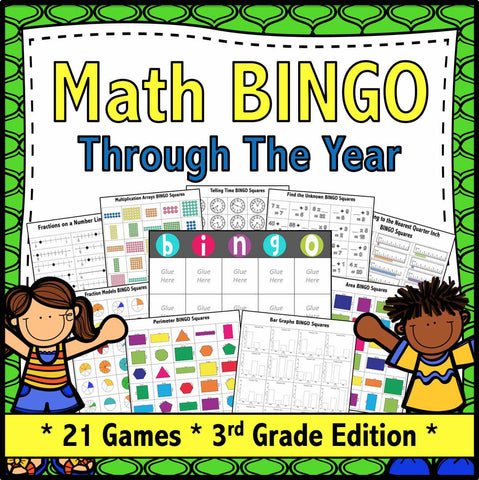 Math Bingo Games for 3rd Grade - Games 4 Gains  - 1