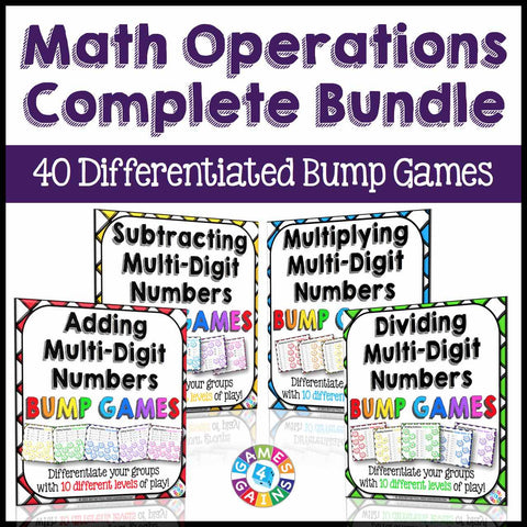 Math Operations Bump Games Bundle - Games 4 Gains
