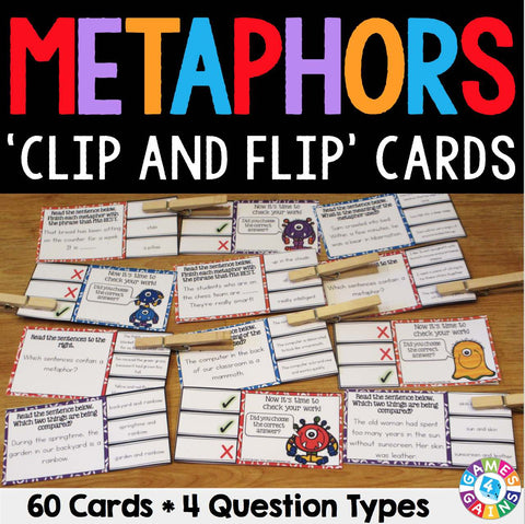 Metaphors 'Clip and Flip' Cards - Games 4 Gains