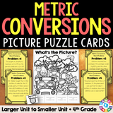 Metric Measurement Conversions Word Problem Cards (4th Grade) - Games 4 Gains  - 1