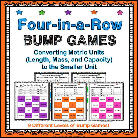 Metric Measurement Conversions Bump Games - Games 4 Gains  - 1
