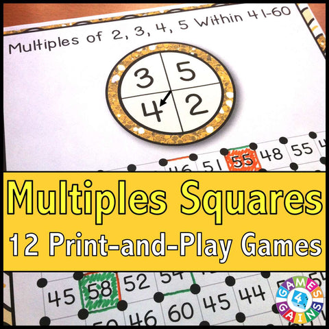Multiples 'Squares' Game - Games 4 Gains  - 1