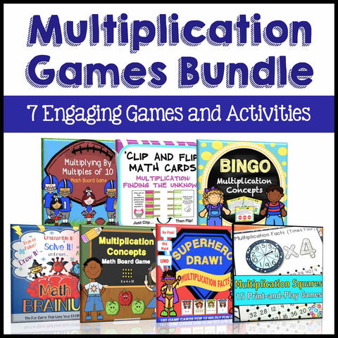 Multiplication Games Bundle - Games 4 Gains