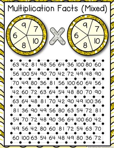 It is an image of Multiplication Game Printable throughout print