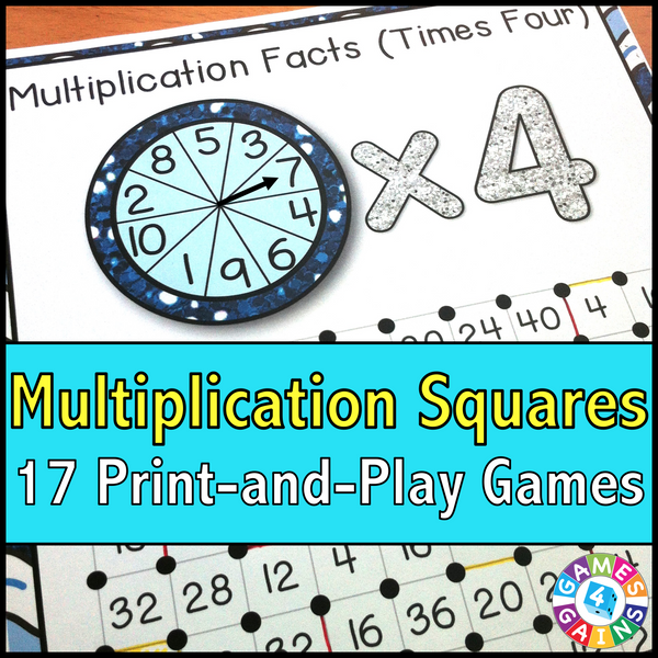 Weve Mathified The Squares Game Games 4 Gains – Multiplication Squares Worksheets