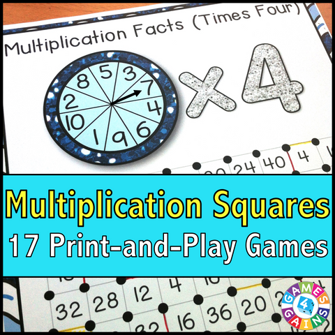 photograph about Multiplication Facts Games Printable named Multiplication Squares Sport