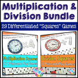 "Multiplication and Division ""Squares"" Games Bundle"