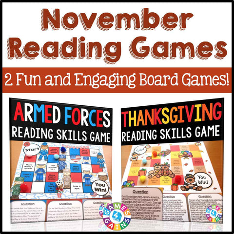 November Reading Games Bundle - Games 4 Gains  - 1