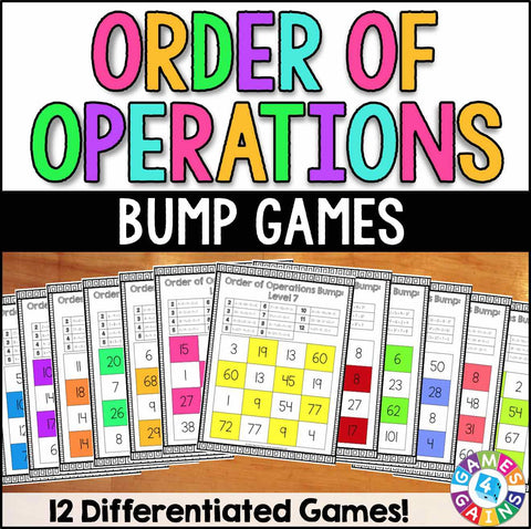 Order of Operations Bump Games