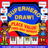 Place Value 'Superhero Draw' Game - Games 4 Gains  - 1