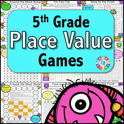 Place Value Games for 5th Grade - Games 4 Gains  - 1