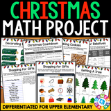 Planning Christmas {Differentiated} Math Project