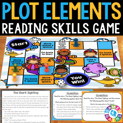 Plot Elements Board Game - Games 4 Gains  - 1
