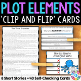 Plot Elements 'Clip and Flip' Cards - Games 4 Gains  - 1