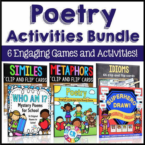 Poetry Activities Bundle - Games 4 Gains