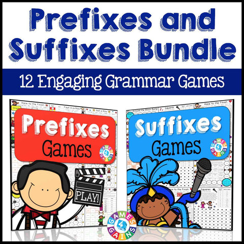 Prefixes and Suffixes Games Bundle - Games 4 Gains  - 1