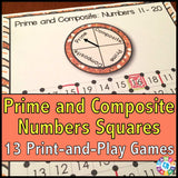 Prime and Composite Numbers 'Squares' Game - Games 4 Gains  - 1