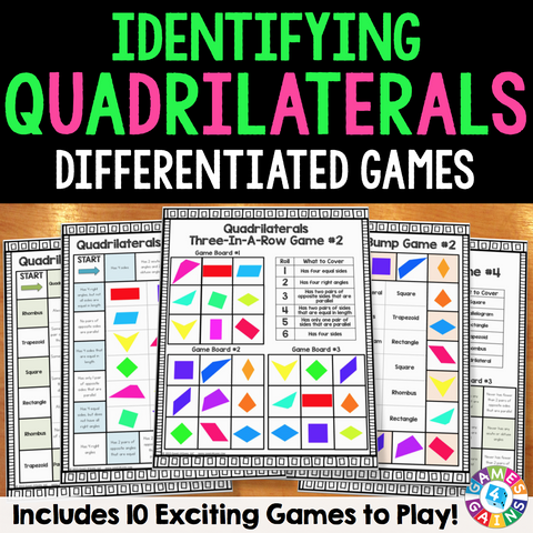 Quadrilaterals Games - Games 4 Gains  - 1