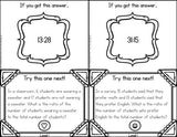 Ratios Word Problems Scavenger Hunt Cards - Games 4 Gains  - 2
