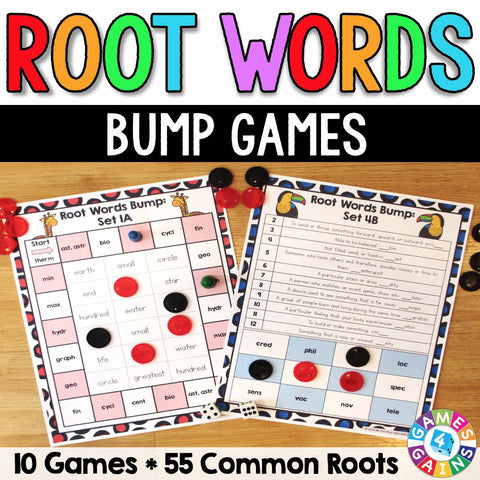 Root Words Bump Games - Games 4 Gains  - 1